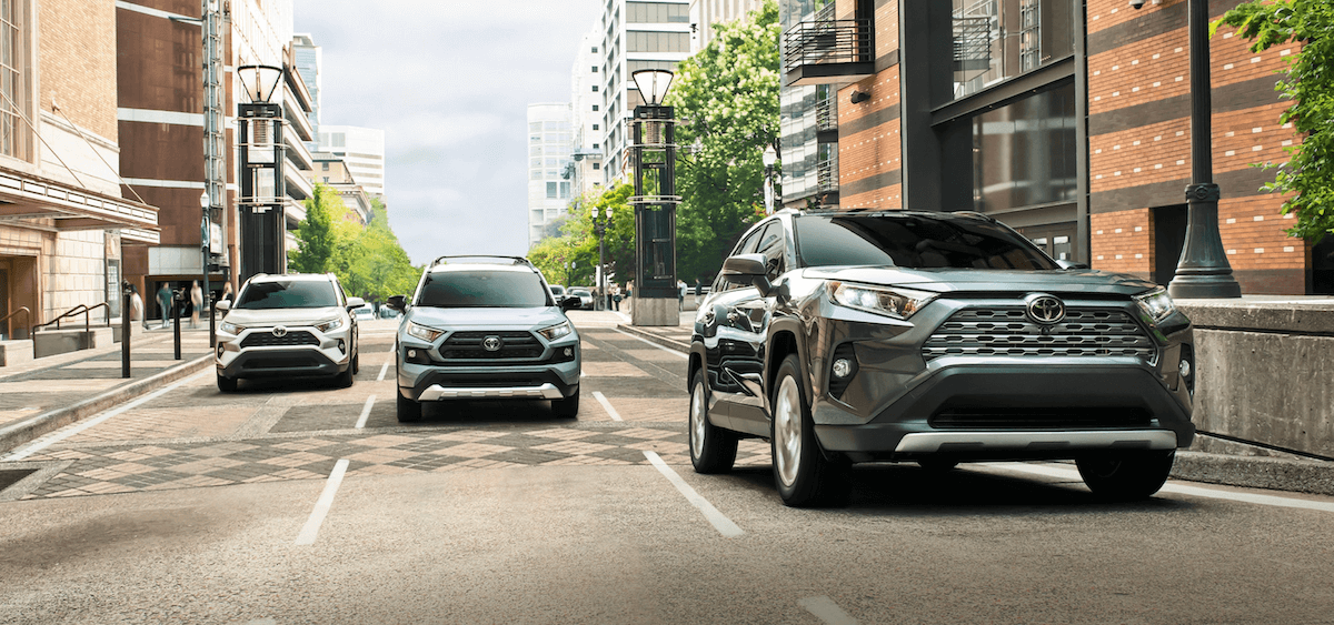 2021 Toyota RAV4 Trim Levels on Street