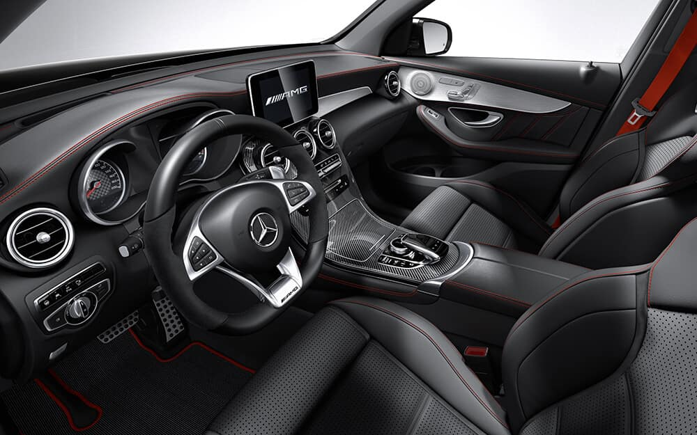 2018 MB AMG GLC front interior