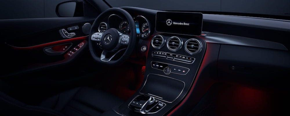 2019 c-class sedan center console and steering wheel controls