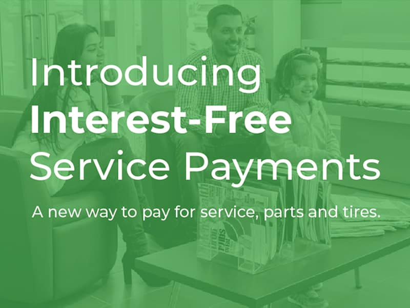 Interest Free Service Payments