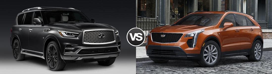 2019 INFINITI QX80 vs 2019 Cadillac XT4