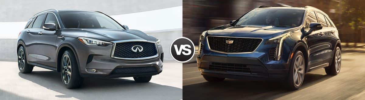 2019 INFINITI QX50 vs 2019 Cadillac XT4