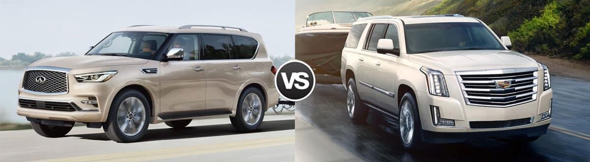 2019 INFINITI QX80 vs 2019 Cadillac Escalade