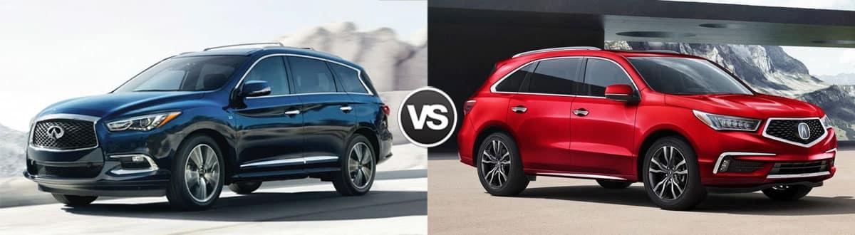 2019 INFINITI QX60 vs 2019 Acura MDX
