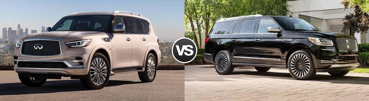 2019 INFINITI QX80 vs 2019 Lincoln Navigator
