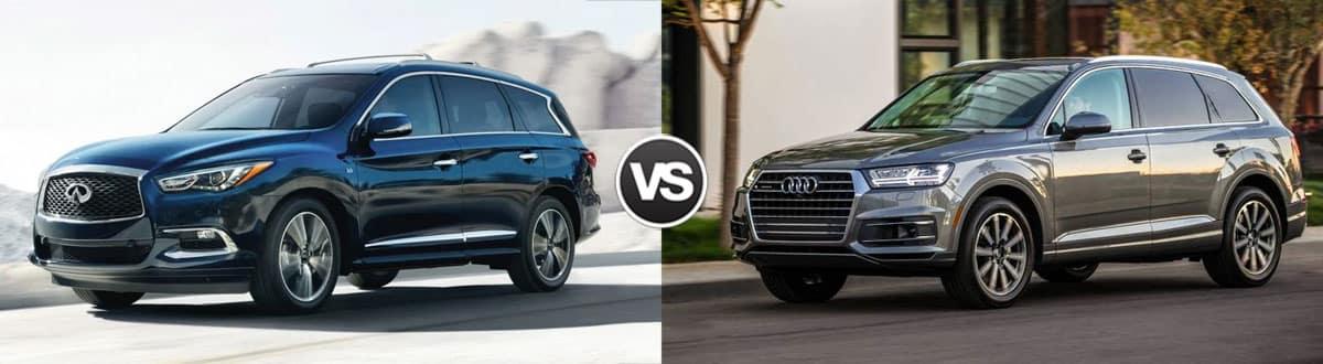 2019 INFINITI QX60 vs 2019 Audi Q7