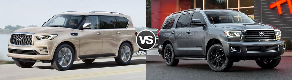 2019 INFINITI QX80 vs 2019 Toyota Sequoia
