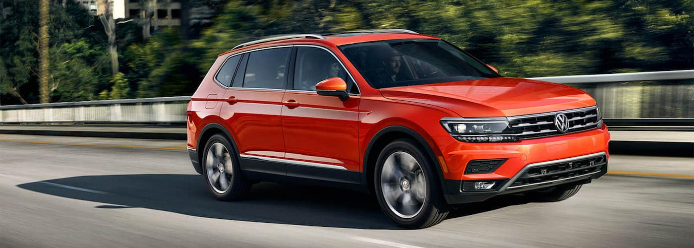 2019 tiguan driving down highway