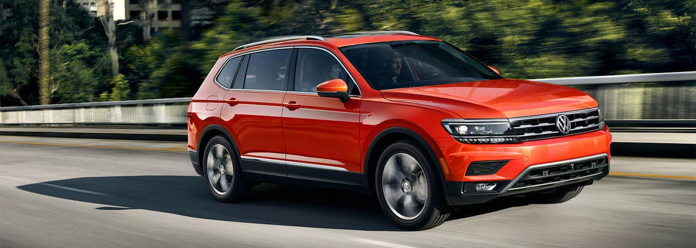 red 2019 tiguan in city