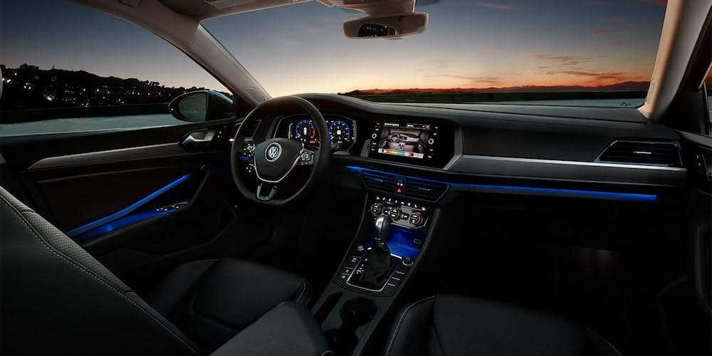 2019 Volkswagen Jetta front interior and dashboard