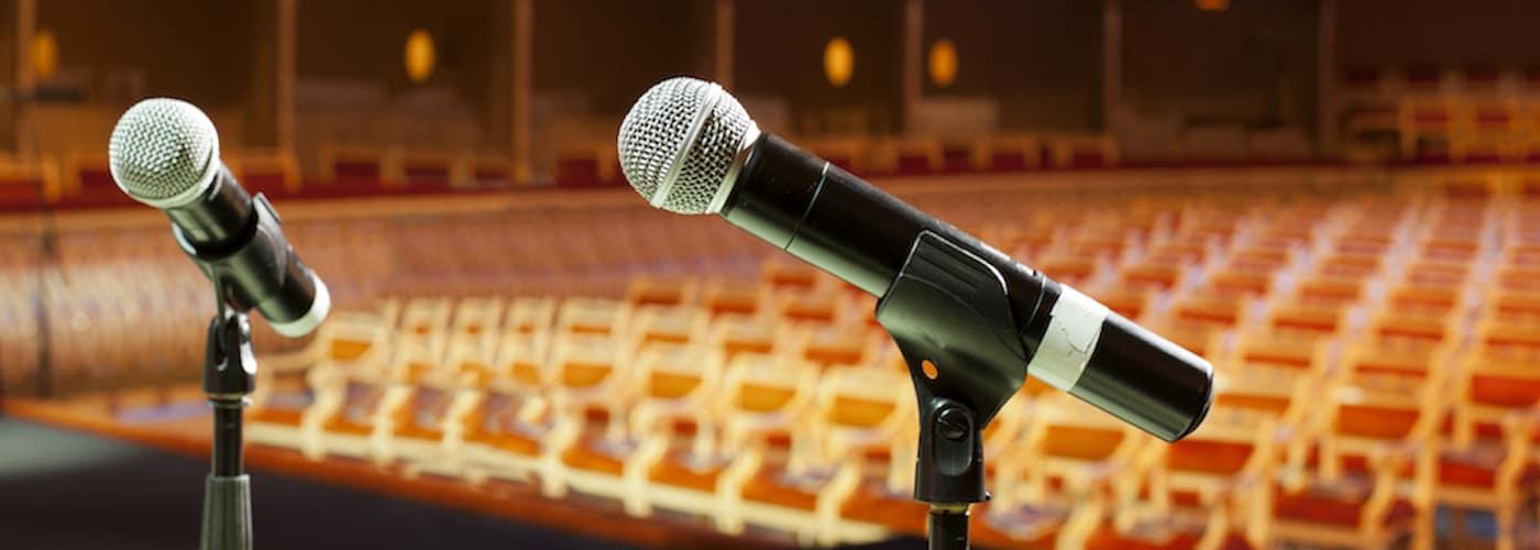 Microphones at auditorium