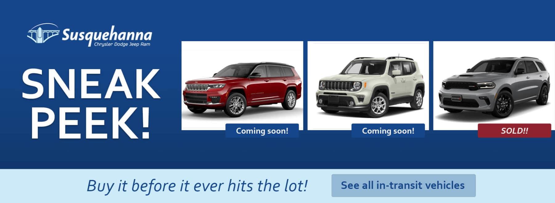 Sneak peek! View all in-transit vehicles!
