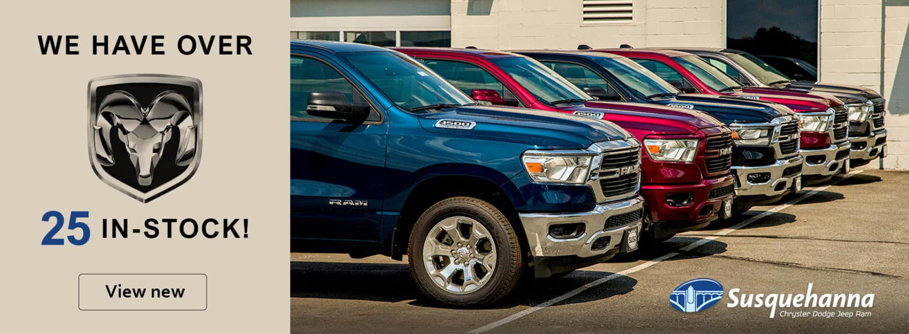 We have over 25 RAMs in stock! See our inventory!