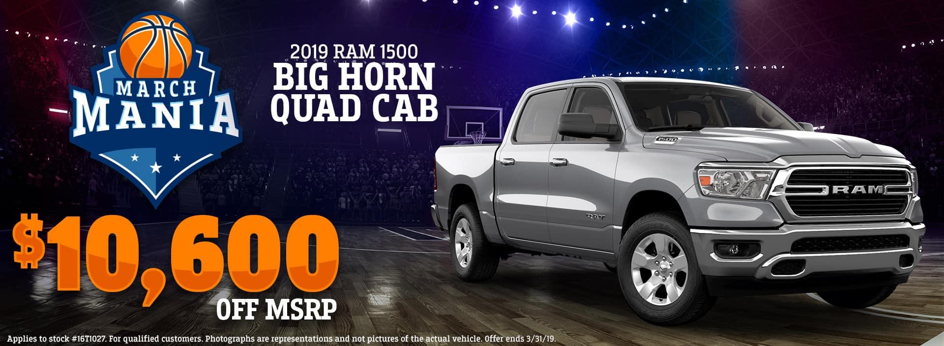 3.19 - 2019 Ram 1500 Big Horn Quad Cab