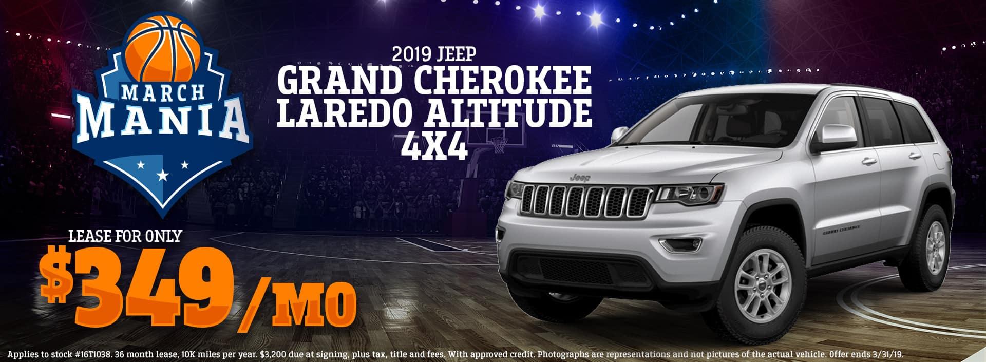 3.19 - 2019 Jeep Grand Cherokee Laredo Altitude 4x4