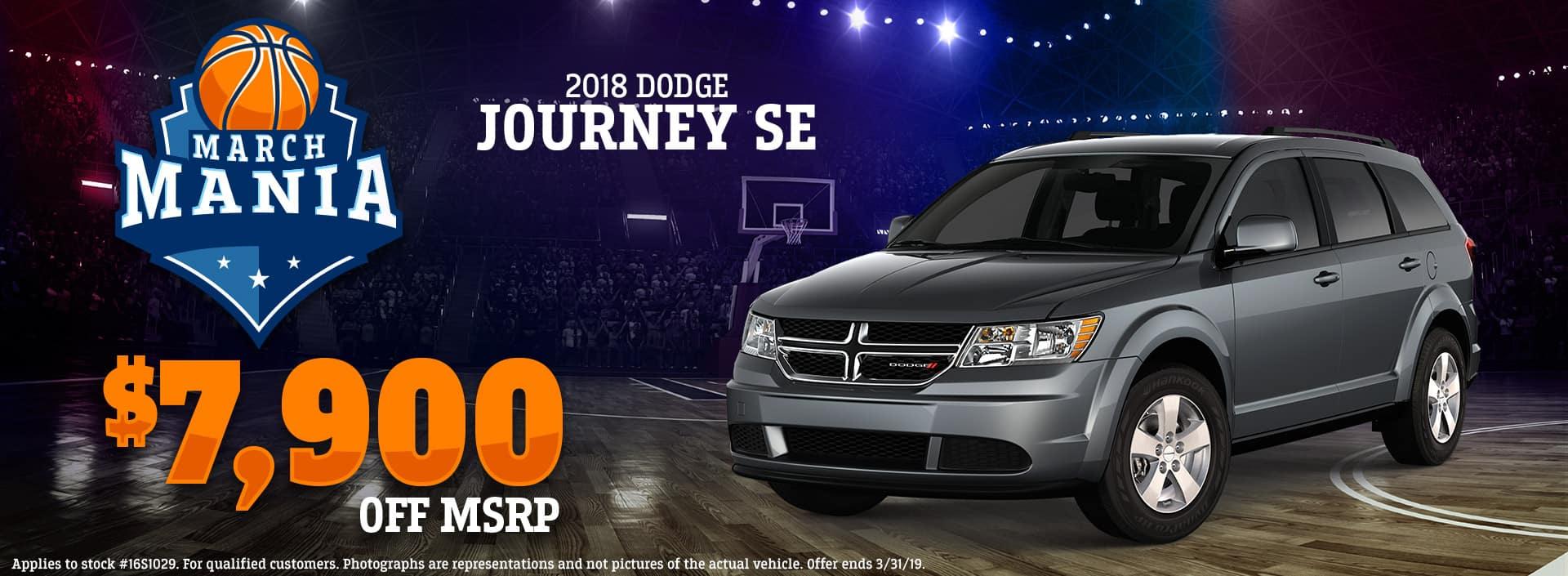 3.19 - 2018 Dodge Journey SE