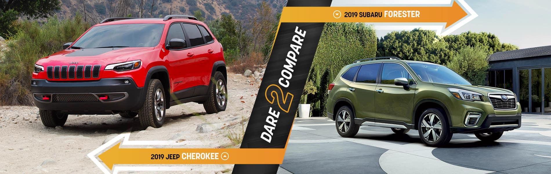2019 Jeep Cherokee vs Subaru Forester | Tom Kelley CDJR | Decatur, IN