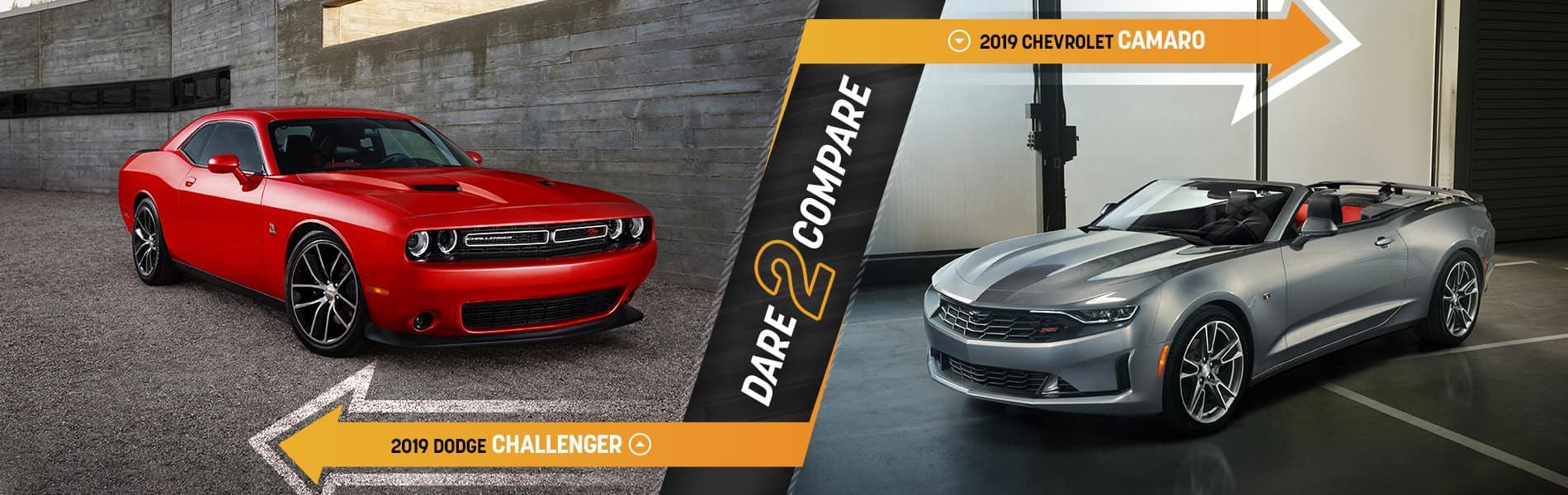 2019 Dodge Challenger vs. 2019 Chevrolet Camaro | Decatur, IN