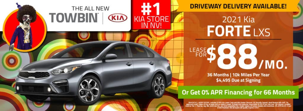 Kia Forte for sale at Towbin Kia, Las Vegas kia dealership.
