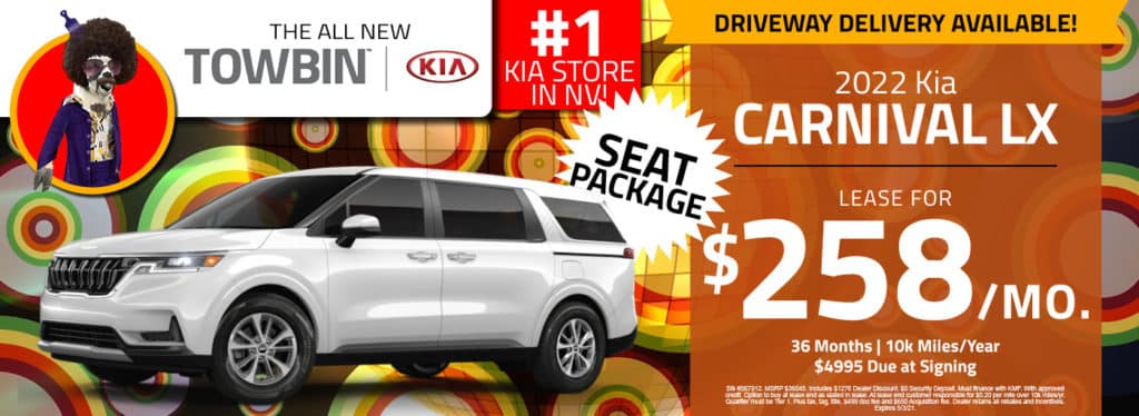 Kia Carnival for sale in Las Vegas towbin kia dealership
