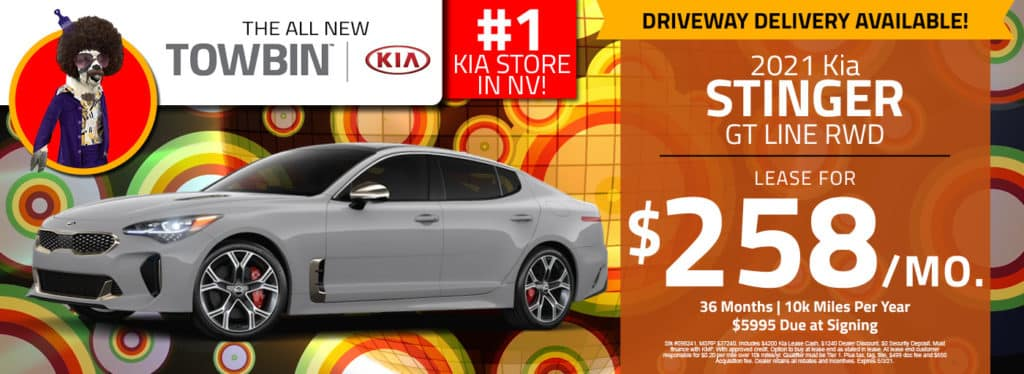 Kia Stinger for sale, Towbin Kia dealership in las vegas.