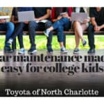 Easy car maintenance from Toyota of N Charlotte.