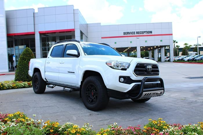 Go off-roading with the N Charlotte Toyota Tacoma.
