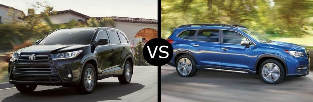 Toyota of N Charlotte compares the Toyota Highlander with the Subaru Ascent.