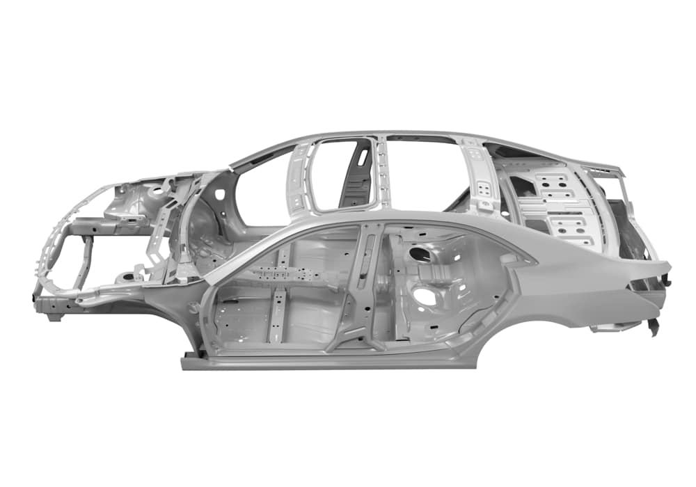 N Charlotte Toyota unibody vehicle chassis.
