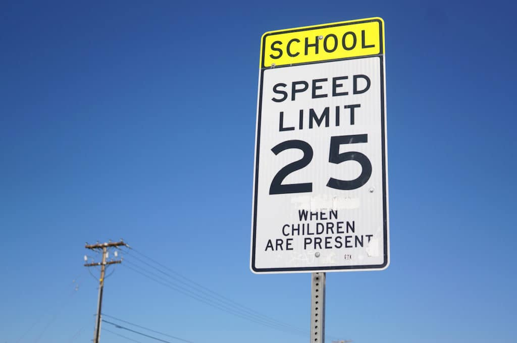 driving in a school zone