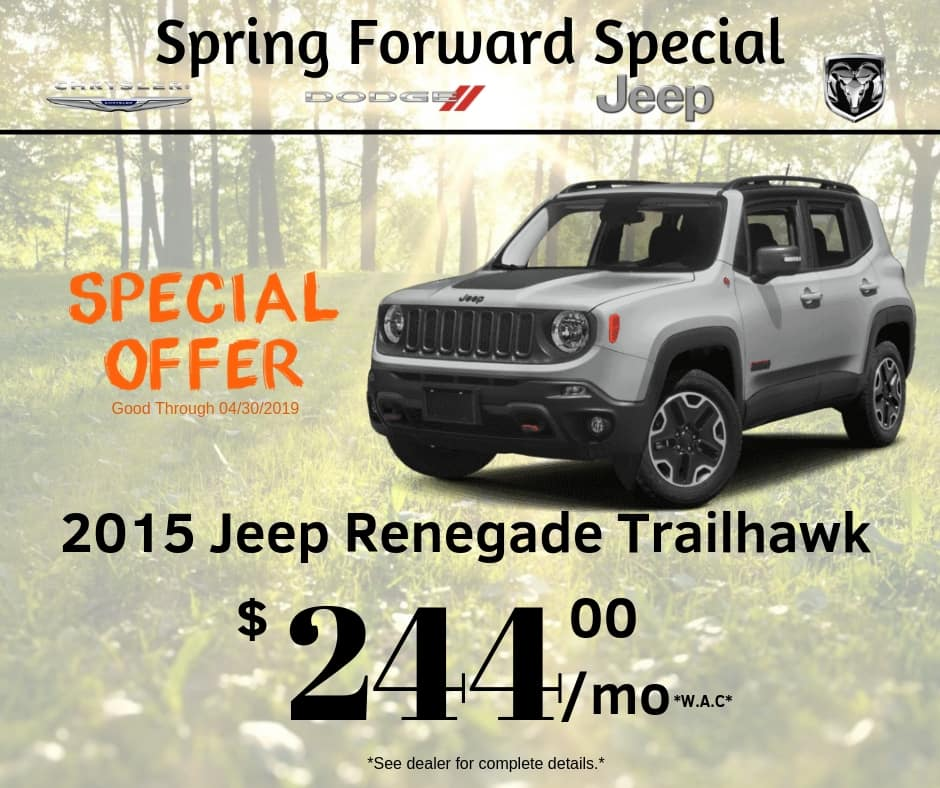 PRE-OWNED 2015 JEEP RENEGADE TRAILHAWK 4WD