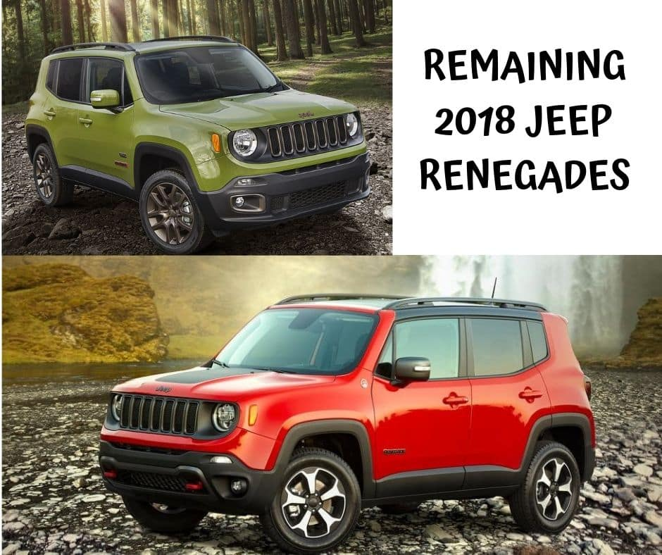 Remaining 2018 Jeep Renegade