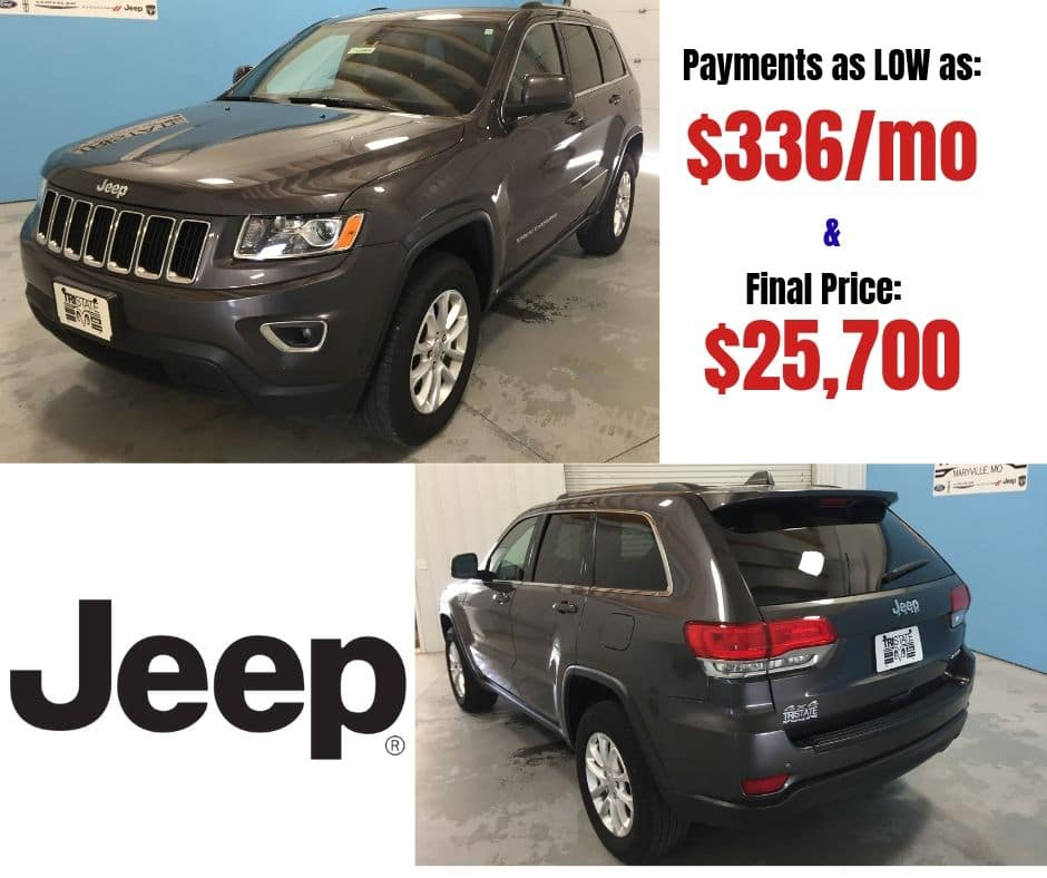 PRE-OWNED 2015 JEEP GRAND CHEROKEE LAREDO 4WD Pre-Enjoyed Special
