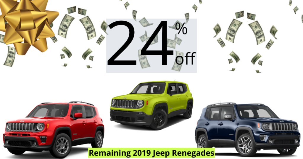 End of Year Holiday Special on Remaining 2019 Jeep Renegades