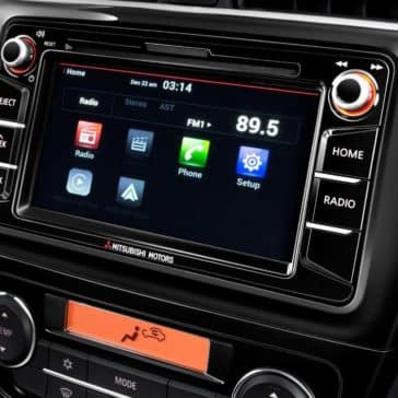 2018 Mitsubishi Mirage touchscreen display