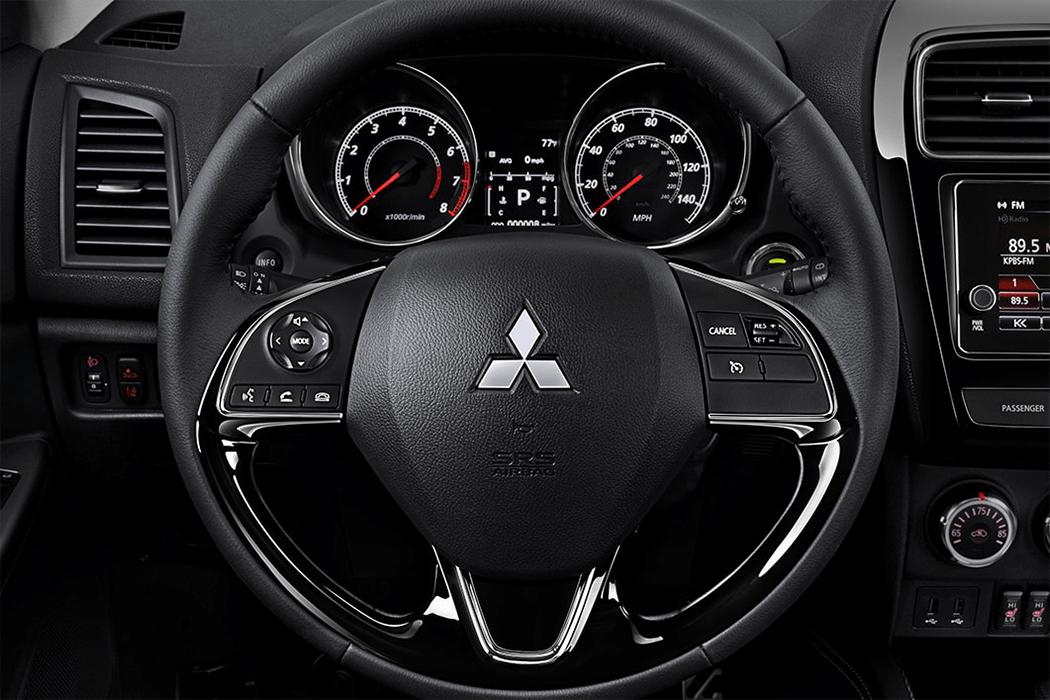 Mitsubishi Outlander Sport 2018 leather wrapped steering wheel 1