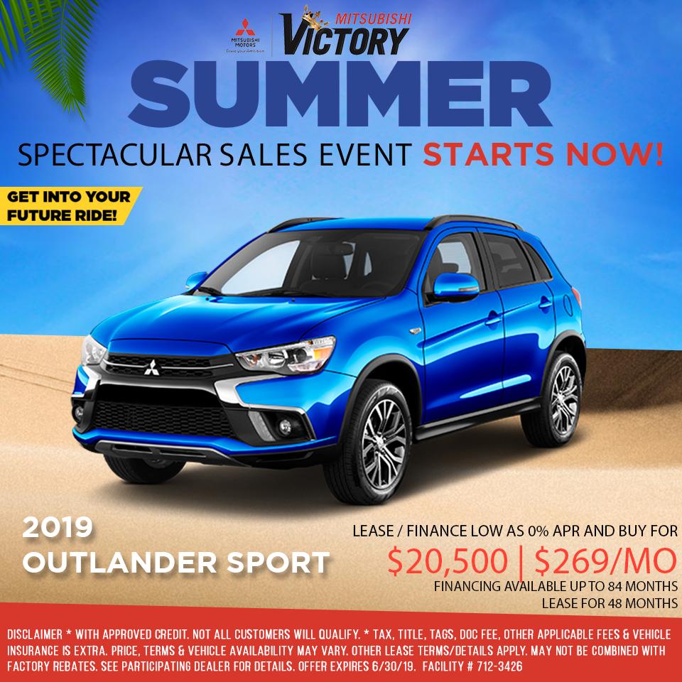 New 2019 Mitsubishi Outlander Sport