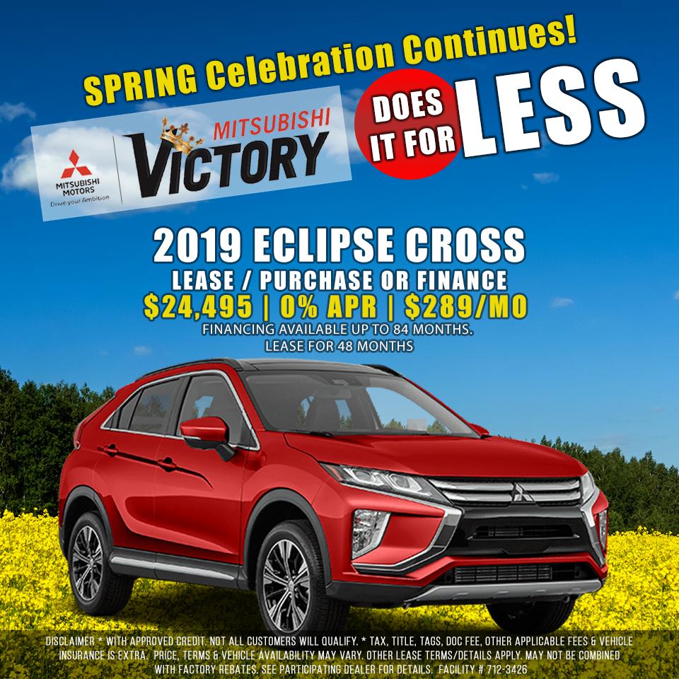 New 2019 Outlander Eclipse Cross