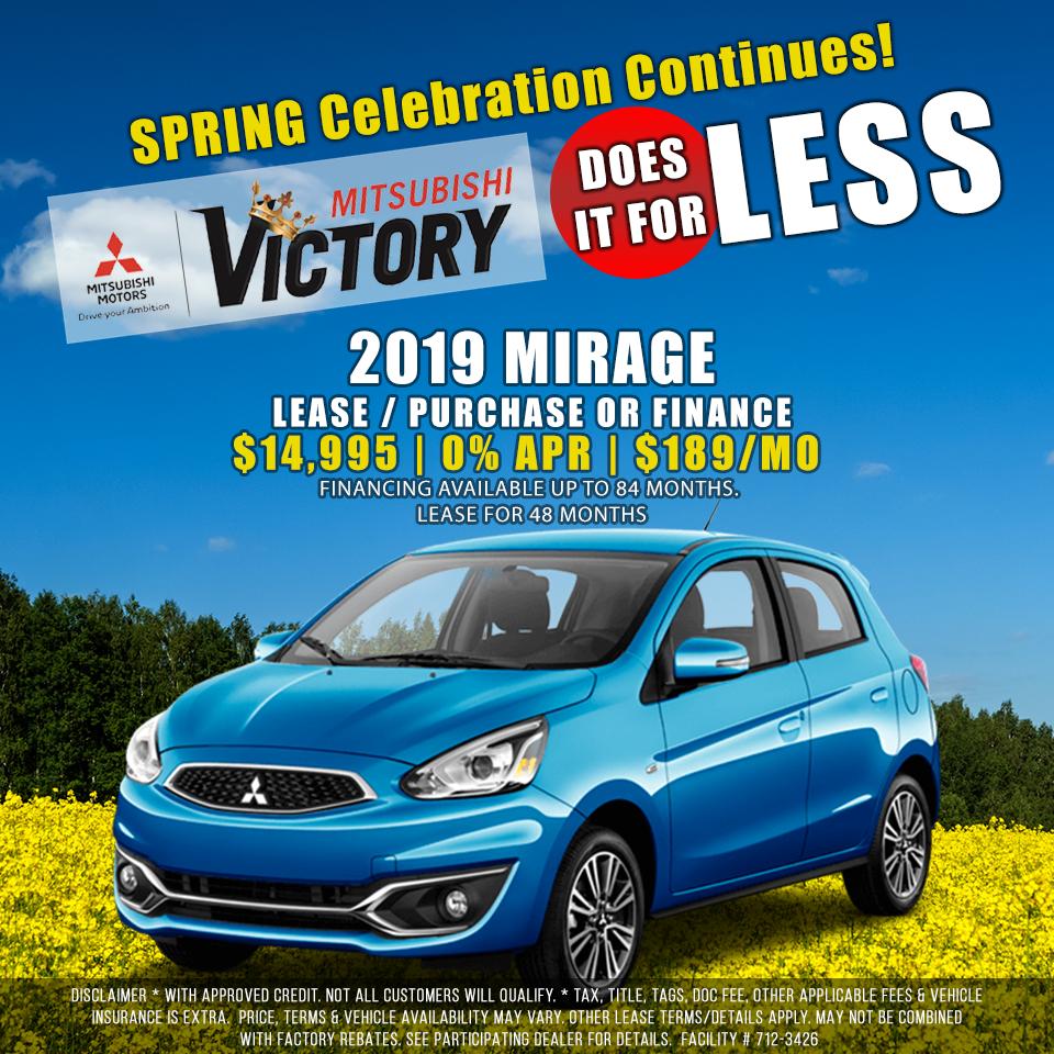 New 2019 Mitsubishi Mirage