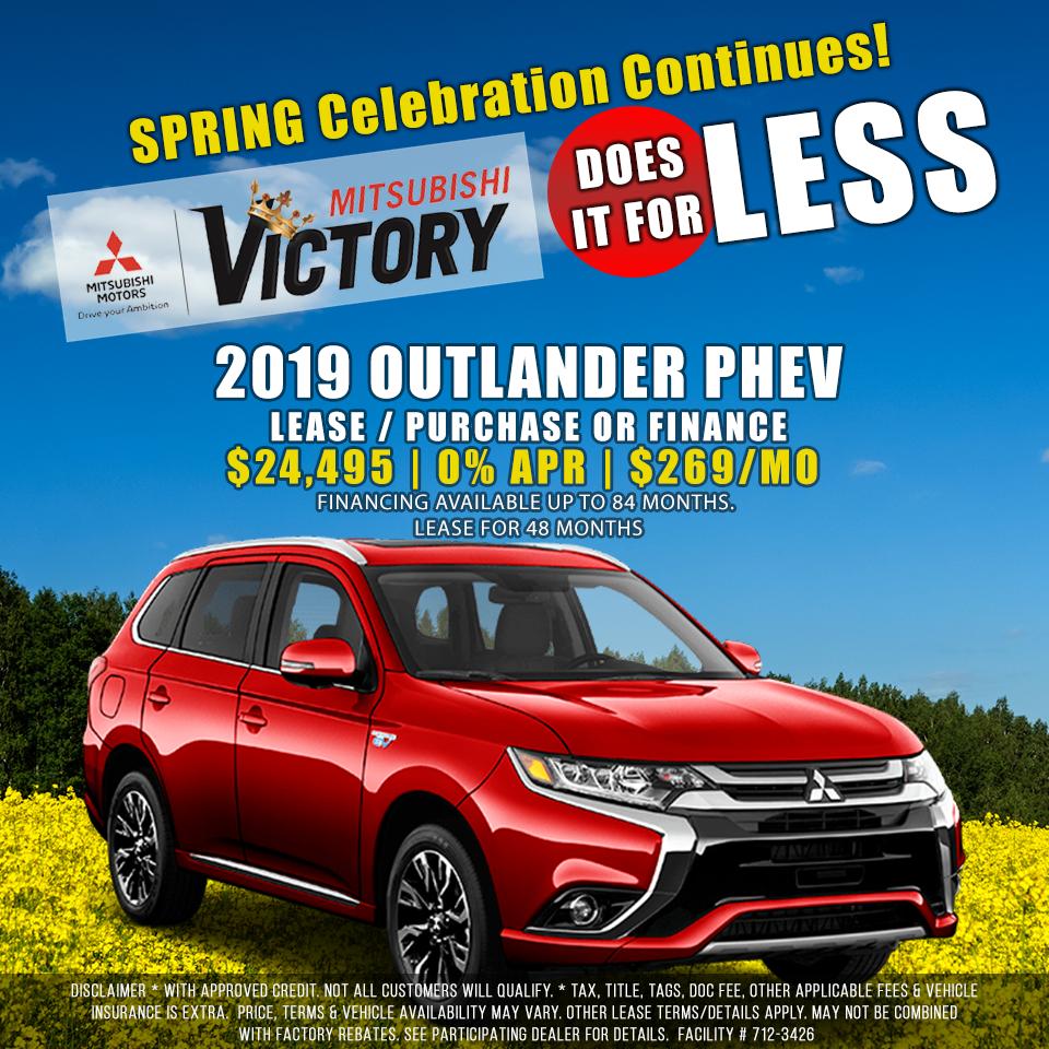 5/19 2019 Outlander Phev