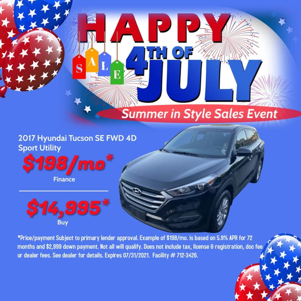 2017 Hyundai Tucson SE FWD 4D Sport Utility