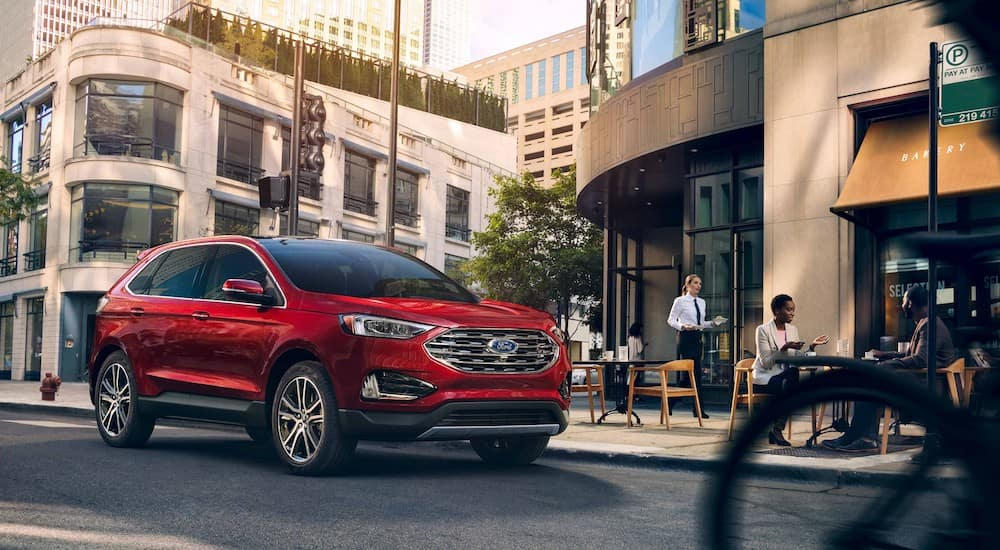 2018 Ford Edge in the city