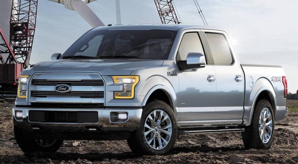 a Silver 2015 Ford F-150 from a local used Ford dealership