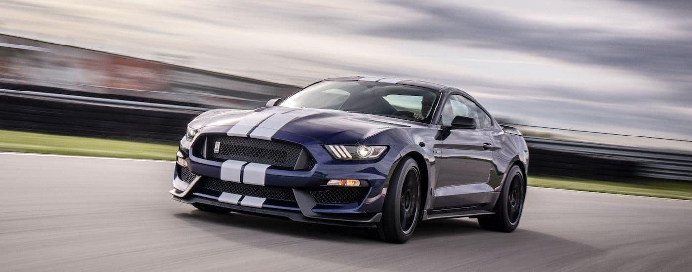 A 2019 Ford Mustang tears up a track outside Carbondale Illinois
