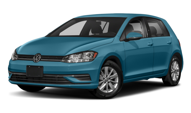 Blue Volkswagen Golf