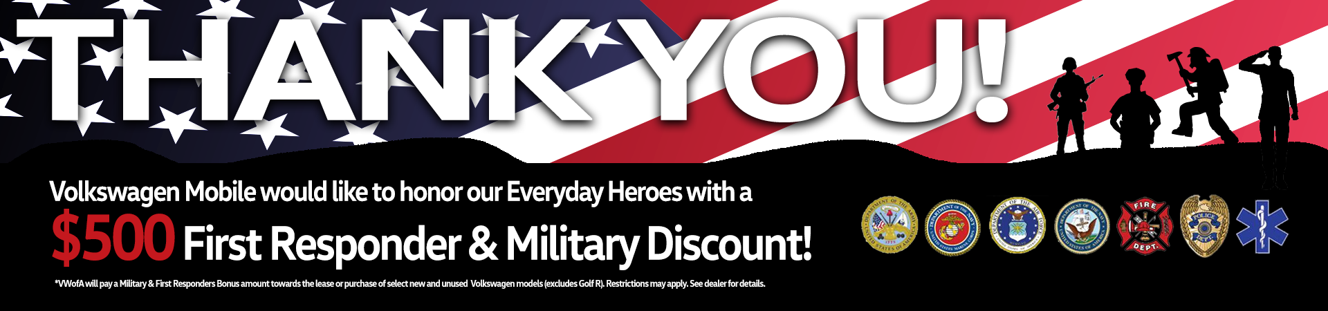 VW MOBILE_Military_First Responders_Discount