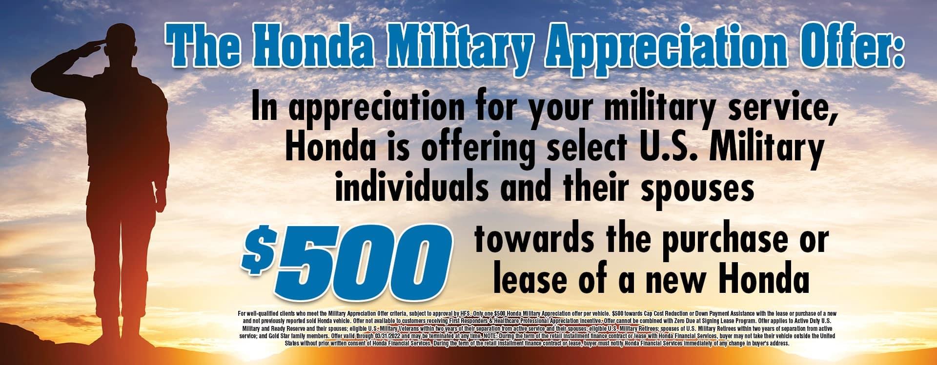 Honda Military Apr 2021