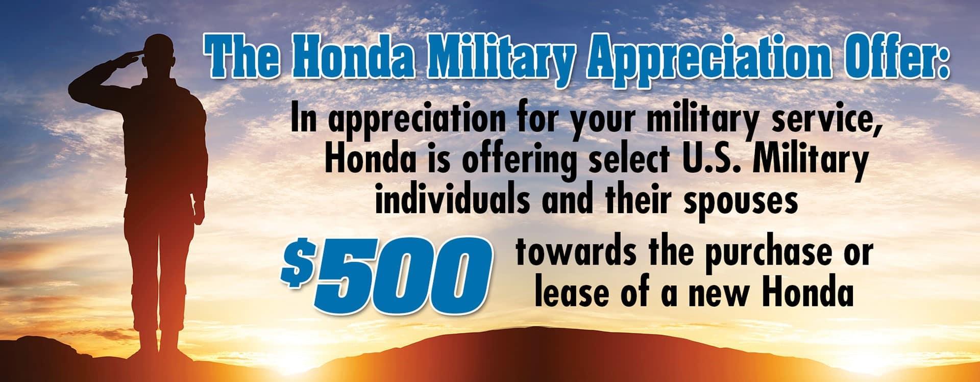 Honda militay baner