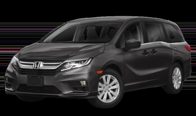 black Honda Odyssey minivan front view