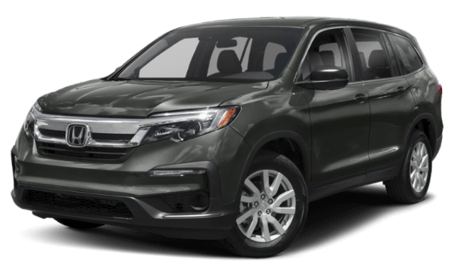 2019 Honda Pilot SUV black front view